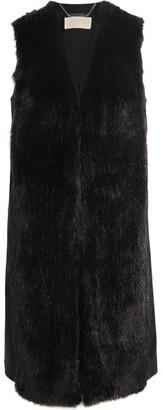 MICHAEL Michael Kors - Faux Fur And Wool-blend Vest - Black $385 thestylecure.com