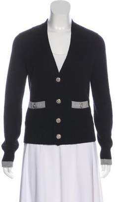 Chanel Cashmere Button-Up Cardigan Black Cashmere Button-Up Cardigan