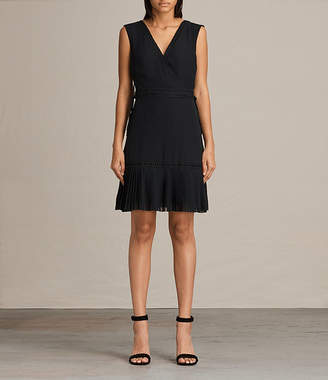 AllSaints Keena Pleat Dress