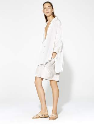 Halston Ruched Button Up Blouse