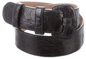d47d4077b Saks Fifth Avenue Crocodile Waist Belt