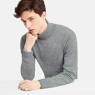Uniqlo Men's Extra Fine Merino Turtleneck Long-sleeve Sweater