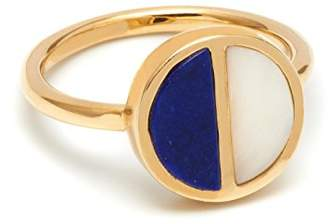Lola Rose Garbo Divided Circle Lapis Lazuli Ring - Size Large