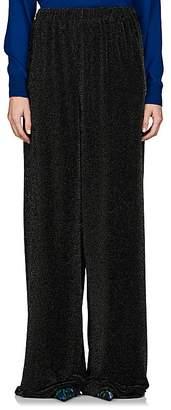 Balenciaga Women's Metallic Knit Wide-Leg Pants
