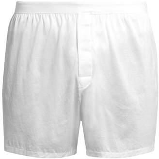 Derek Rose Lewis Cotton Jersey Boxer Shorts - Mens - White