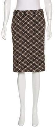 Tory Burch Plaid Wool Skirt