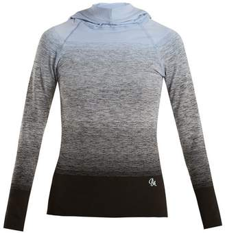 Pepper & Mayne - Hooded Ombré Compression Performance Top - Womens - Light Blue