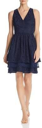 Eliza J Tiered Lace Dress