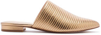 Rachel Zoe Luna Ribbed Metallic Leather Slides