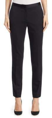 Theory Slim-Fit Mid-Rise Tuxedo Pants