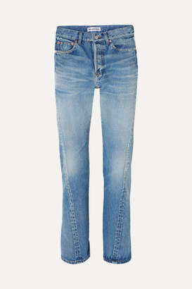 Balenciaga Twisted High-rise Straight-leg Jeans - Blue