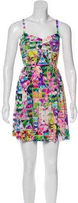 Amanda Uprichard Printed Mini Dress w/ Tags