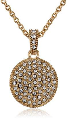 Judith Jack en Class Sterling Silver and -Tone Crystal Marcasite Disc Pendant Necklace