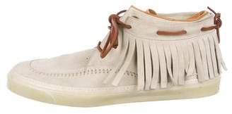 Gucci Suede Moccasin Sneakers