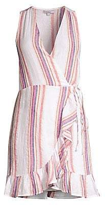 Rails Women's Madison Striped Sleeveless Wrap Dress