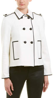 Valentino Leather-Trim Jacket