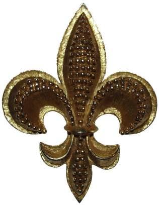 Oscar de la Renta 18K Gold Plated Fleur De Lis Pin Brooch