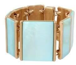 Robert Lee Morris Soho Moonrise Blue Mother-Of-Pearl and Crystal Bracelet