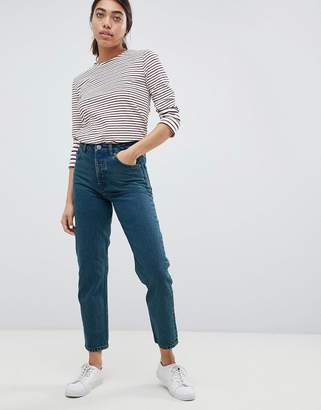 Asos DESIGN Recycled Florence authentic straight leg jeans in fanchon green cast wash