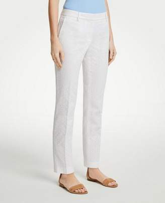 Ann Taylor The Petite Ankle Pant In Eyelet - Curvy Fit