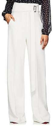 Derek Lam Women's High-Waist Crepe Wide-Leg Trousers - White