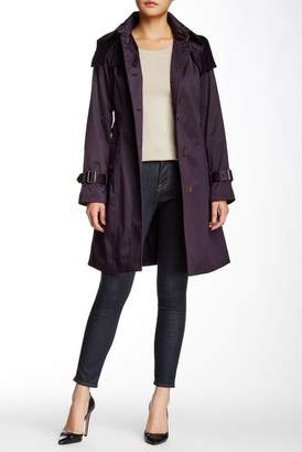 London Fog Water Repellent Hooded Trench Coat $235 thestylecure.com
