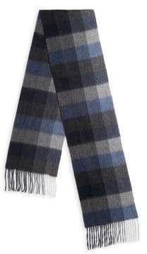 Saks Fifth Avenue COLLECTION Box Plaid Cashmere Scarf