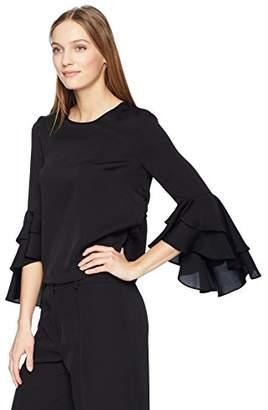 Milly Women's Stretch Silk Gabby Top