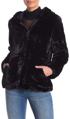 Vigoss O-Ring Faux Fur Jacket