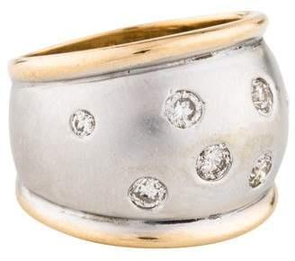 Ring 14K Diamond Wide Band