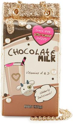 Betsey Johnson Kitsch Chocolate Milk Crossbody Bag $70 thestylecure.com