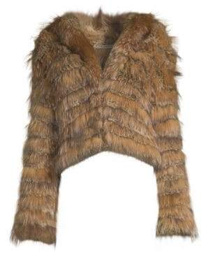 Alice + Olivia Nadia Hooded Fur Coat