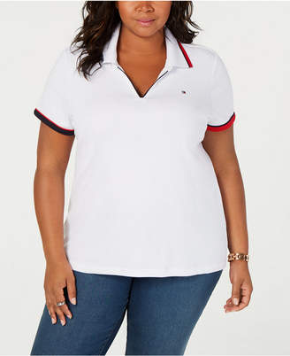 Tommy Hilfiger Plus Size V-Neck Polo Shirt