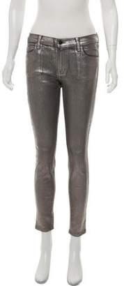 J Brand Metallic Mid-Rise Jeans