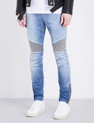 Balmain Skinny-fit stretch-cotton jeans $625 thestylecure.com