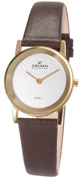 Grenen® Brown Leather Watch