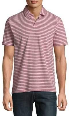 Black & Brown Black Brown Short-Sleeve Striped Polo Shirt