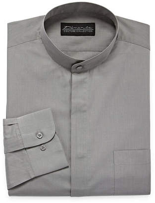 DAMANTE Damante Banded Collar Big And Tall Mens Banded Collar Long Sleeve Dress Shirt