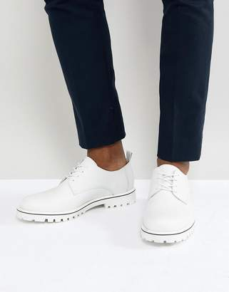 Zign Shoes Leather Lace Up Shoes In White