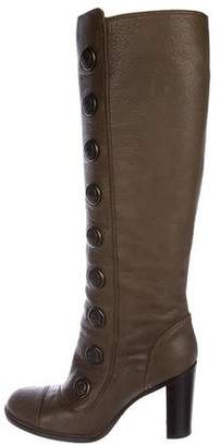 Dolce & Gabbana Leather High Heel Boots