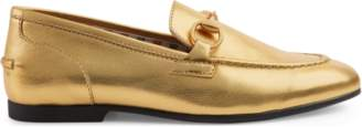 Gucci Children's Jordaan metallic leather loafer