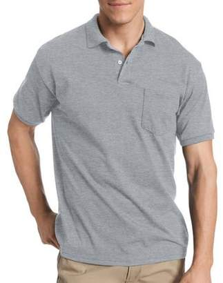 Hanes Men's EcoSmart Short Sleeve Jersey Polo Shirt with Pocket