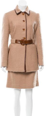 pradaPrada Belted Skirt Suit