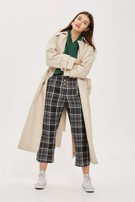 Topshop Checked Tie Belt Culottes