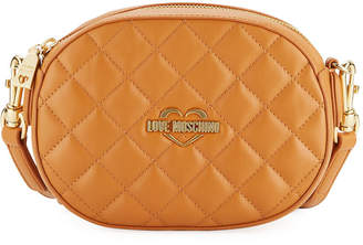 Love Moschino Quilted Shoulder Bag with Hand Strap