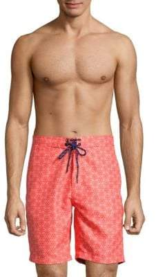 Geometric-Print Board Shorts