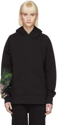 Baja East Black Weed Pullover Hoodie
