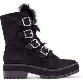 Schutz Fur And Suede Boots