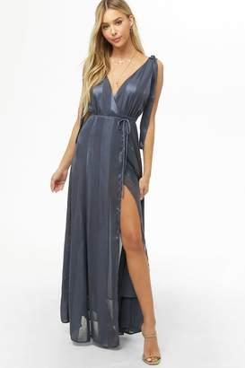 Forever 21 Striped Maxi Wrap Dress