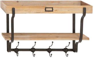 Uma Enterprises Wood Wall Shelf & Hooks